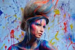 Муза женщины с искусством тела Стоковые Фото