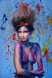Муза женщины с искусством тела Стоковые Изображения RF