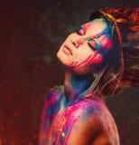 Муза женщины с творческим искусством тела стоковое фото rf