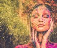 Муза с творческим искусством тела Стоковые Фото