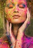 Муза с творческим искусством тела Стоковые Фотографии RF