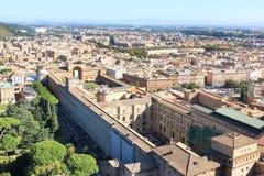 Взгляд от базилики St Peter на музеях Ватикана, Рим Стоковые Изображения RF