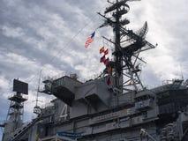 Музей авианосца USS на полпути, стоковое изображение rf