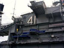Музей авианосца USS на полпути стоковые фотографии rf