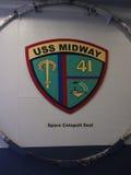 Музей авианосца USS на полпути стоковые изображения