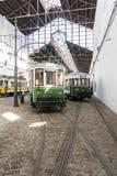 Музей автомобиля трамвая Museu делает Carro Electrico Порту, Португалии стоковые изображения rf