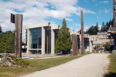 Музей антропологии, UBC, Ванкувера ДО РОЖДЕСТВА ХРИСТОВА Стоковые Фото