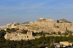 Музей Афин Греция акрополя Стоковые Изображения