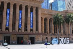 Музей Брисбена в здание муниципалитете Брисбена, Австралии стоковое изображение rf