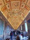 Музей Ватикана коридора Стоковое Изображение RF