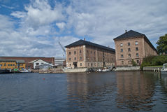 Музей военно-морского флота внутри horten (karjohansvern) стоковое изображение rf