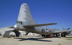 МУЗЕЙ ВОЗДУХА ПОЛЯ в МАРТЕ, Калифорния, США - 17-ое марта 2016: Боинг B-29A Superfortress, США Стоковая Фотография RF