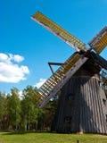 Музей воздуха деятельности Wdzydze Kiszewskie, ветрянка Стоковое Изображение RF
