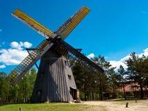 Музей воздуха деятельности Wdzydze Kiszewskie, ветрянка Стоковая Фотография