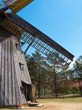 Музей воздуха деятельности Wdzydze Kiszewskie, ветрянка Стоковая Фотография RF