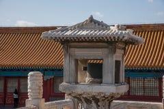 Музей дворца Пекина перед Hall высшей сработанности, ` тома Jia ` стоковое фото