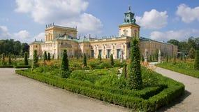 Музей дворца Wilanow в Варшаве Стоковое фото RF