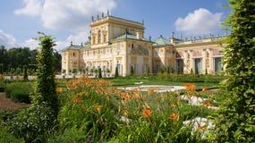 Музей дворца Wilanow в Варшаве Стоковое Изображение
