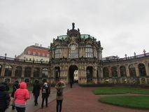 Музей в бывшем королевском дворце, город Zwinger Дрездена, Германии стоковое изображение rf