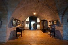Музей в замке стоковые фотографии rf