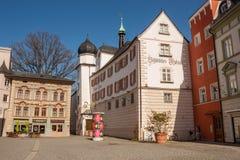 Музей города Rosenheim в здании Mittertor - средневековых стробах городка, Rosenheim, Германии Стоковые Изображения