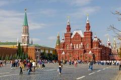 Музей государства исторический и Москва Кремль от красной площади стоковые фото