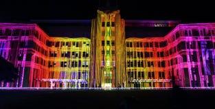 Музей здания современного искусства во время яркого Сиднея Стоковое фото RF