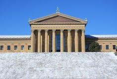 Музей изобразительных искусств Филадельфии после падения снега стоковое изображение rf