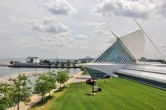 Музей изобразительных искусств Milwaukee, Milwaukee, Висконсин, Midwest США стоковая фотография