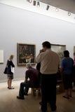 Музей изобразительных искусств посещения Стоковая Фотография