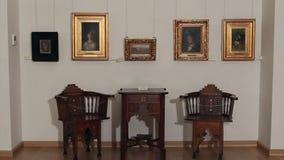 Музей изобразительных искусств Съемка тележки акции видеоматериалы