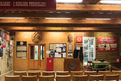 Музей информационного центра экспонатов Парк Grutas Стоковое фото RF