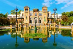 Музей искусств и популярных таможен в Севилье, Испании стоковое изображение
