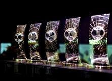 Музей клуба футбола Real Madrid придает форму чашки и награждает клуб стоковые изображения