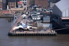 Музей конкорда и моря, воздуха и космоса, Нью-Йорк Стоковое Изображение