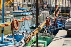 Музей кораблей рыболовство шлюпки старое Стоковые Изображения RF