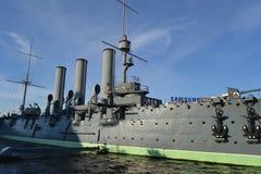 Музей крейсера рассвета в Санкт-Петербурге Стоковое Изображение
