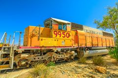 Музей локомотива Barstow стоковое фото