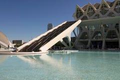 Музей науки в городе искусств и наук в Валенсия, Испании стоковое фото