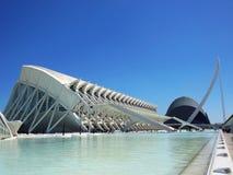 Музей наук в городе искусств и наук в Валенсии, Испании Стоковая Фотография