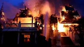 Музей на огне сток-видео