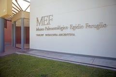 Музей палеонтологии Egidio Feruglio в городе Trelew, Патагонии, Аргентине стоковое фото rf