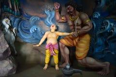 Музей пещеры Murudeshwar, Karnataka, Индия: 25,2018 -го август: Ganesha устанавливает Atma Linga на ВИСКЕ ` ` x groundxx стоковое фото
