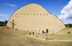 Музей плитки мозаики в городе Tajimi, Японии стоковое фото