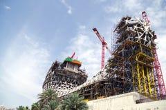 Музей под конструкцией, красивой структурой стоковое фото rf