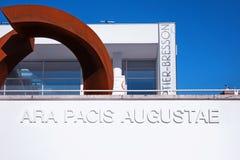 Музей Рим Италия Pacis Augustae Ara Стоковое фото RF