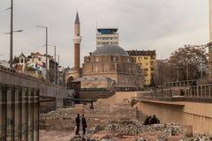 Музей руин Serdica и мечеть Banya Bashi в Софии, Болгарии Стоковое Изображение