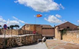 Музей Сеговии с голубым небом Стоковое фото RF
