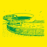 Музей современного искусства Niteroi, Бразилия Стоковые Фотографии RF