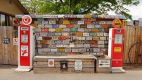 Музей стойки газового насоса Стоковое фото RF